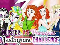 Monster Vs Princess Instagram Challenge