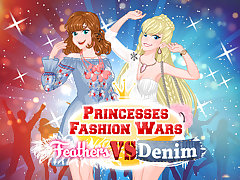Princesses Fashion Wars Feathers VS Deni