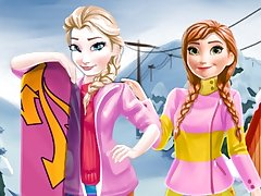 Elsa and Anna Winter Vacation