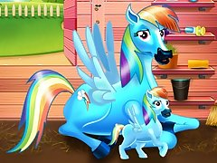 Rainbow Dash and the New Born Baby